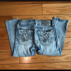 Girls Miss Me Cropped Jeans Size 12